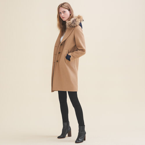 Long coat in wool and cashmere - Coats - MAJE