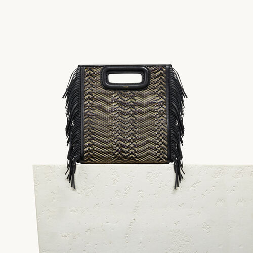 Leather M bag with braiding - Bags - MAJE