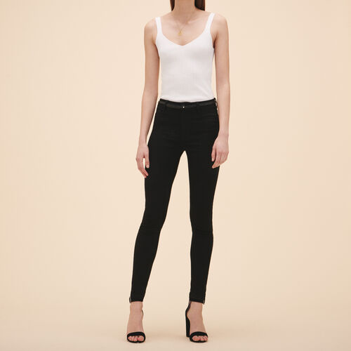 Cotton slim jeans - Jeans - MAJE