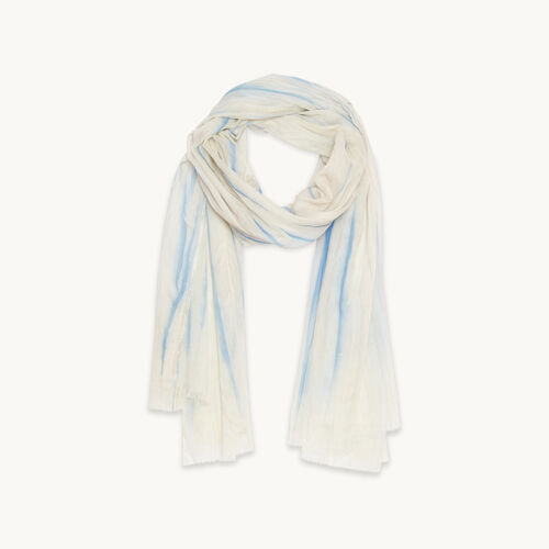 Printed cotton stole - See all - MAJE