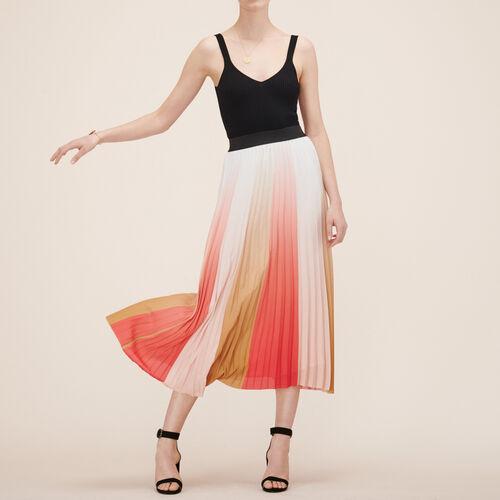 Jupe longue plissée - Jupes & Shorts - MAJE