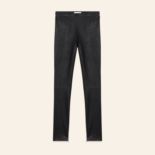 Stretch leather leggings - Trousers - MAJE