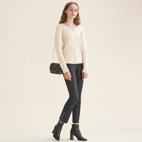 Loose cashmere jumper - Knitwear - MAJE