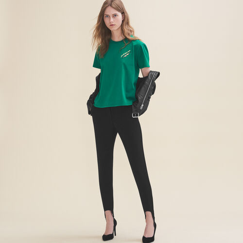 Embroidered T-shirt Thursday - Tops - MAJE