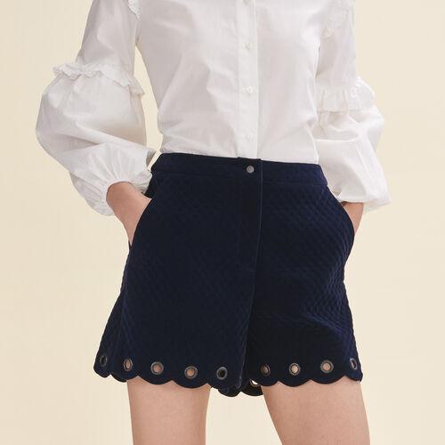 Short en velours matelassé - Jupes & Shorts - MAJE