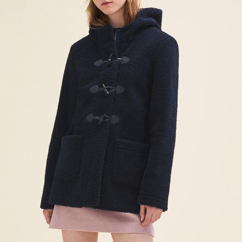 Faux fur duffle coat - Coats - MAJE