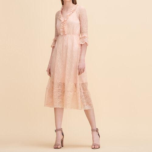 Long lace dress - Dresses - MAJE