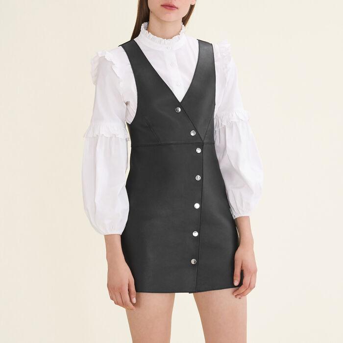 Leather sleeveless dress - Dresses - MAJE