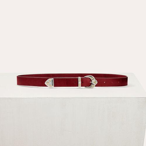 Scalloped buckle leather belt - Belts - MAJE