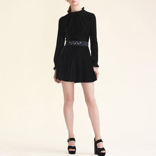 Velvet dress with belt - New in - MAJE