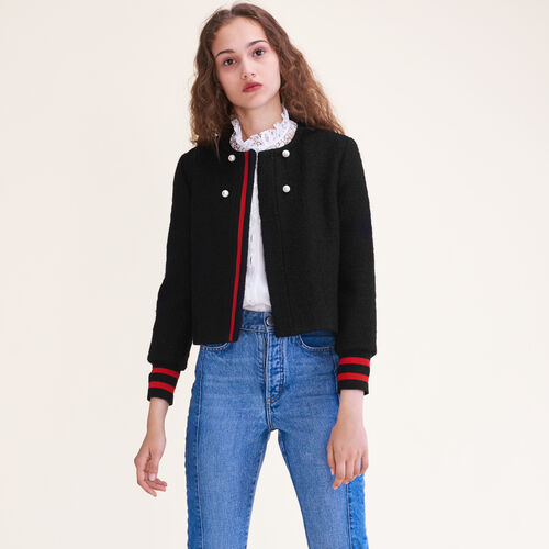 Tweed cropped jacket - Blazers - MAJE