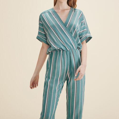 Combinaison-pantalon en jacquard - Pantalons - MAJE