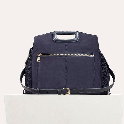 Suede shoulder bag - M Walk - MAJE