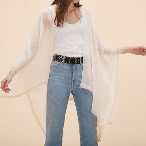 Poncho en laine mélangée - Tout voir - MAJE