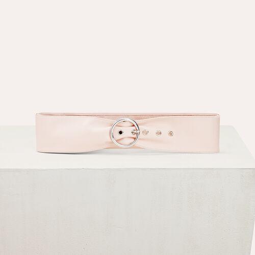 Wide leather belt - Belts - MAJE