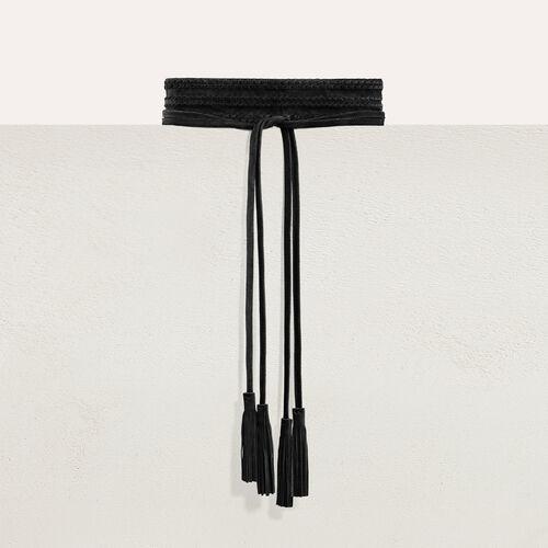 Large belt with suede fastening - Belts - MAJE