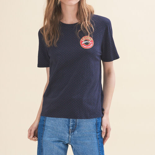 Embroidered T-shirt Tuesday - Tops - MAJE