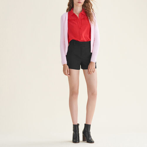 Cardigan with zips on the sides - Knitwear - MAJE