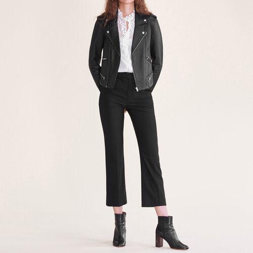 Pantalon de ville en laine - Pantalons - MAJE
