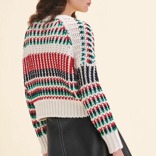 Decorative multi-coloured knit jumper - Knitwear - MAJE