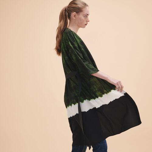 Tie-dye print kimono jacket - Blazers - MAJE