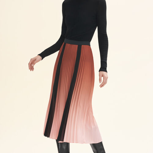 Pleated tie-dye skirt - Skirts & Shorts - MAJE