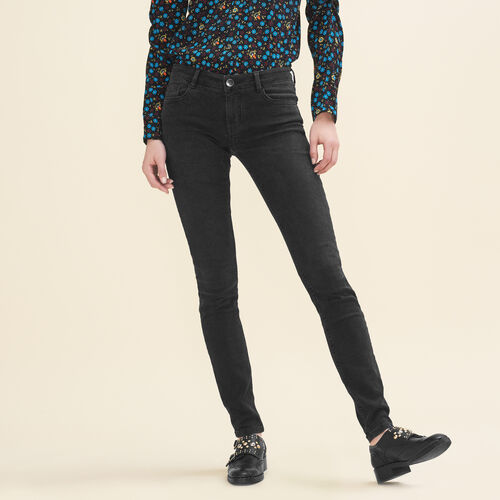 Stretch cotton skinny jeans - Jeans - MAJE