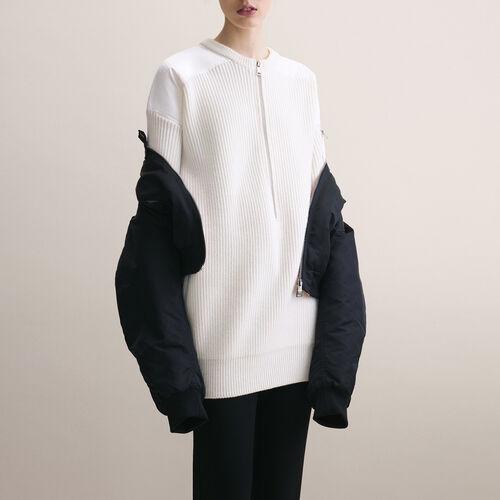 Dress with nylon inserts - Dresses - MAJE