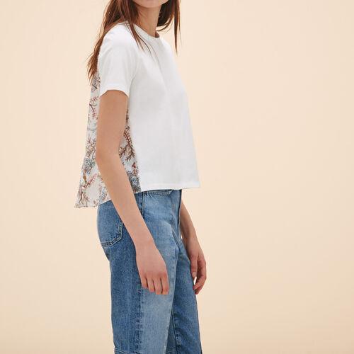 Tee-shirt avec imprimé au dos - Hauts - MAJE