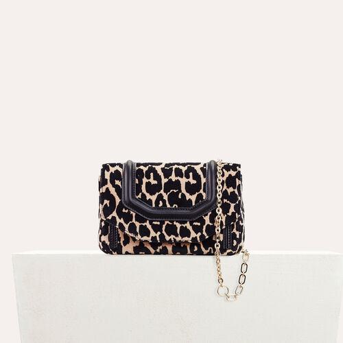 Leopard print evening bag - Shoulder bag - MAJE