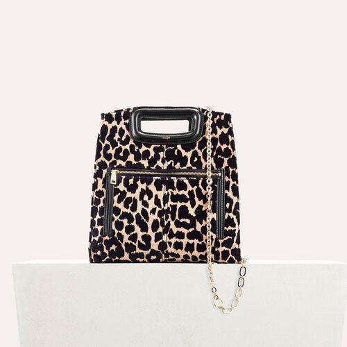 Leopard print bag - M bag - MAJE