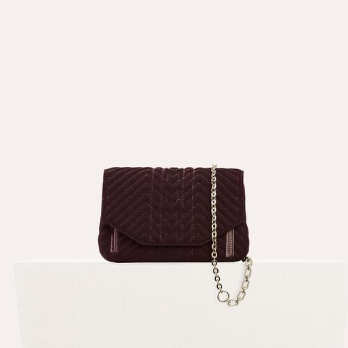 Quilted velvet evening bag - Shoulder bag - MAJE