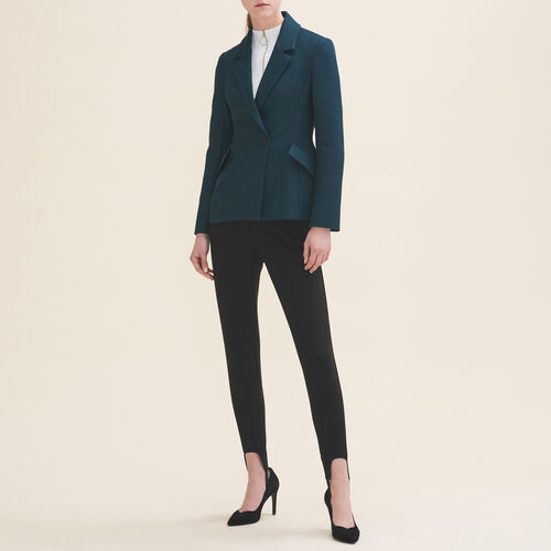 Structured jacket with peplum - Blazers - MAJE