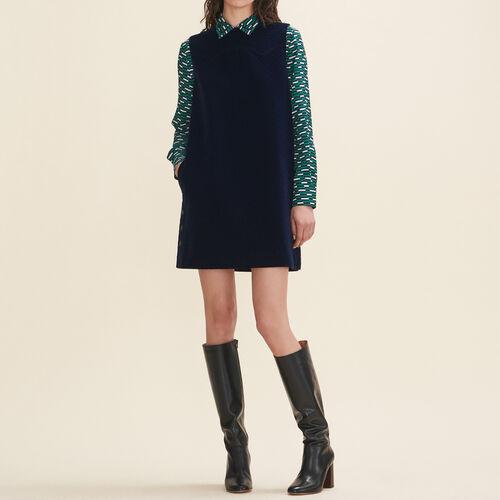 Robe trapèze en velours - Robes - MAJE