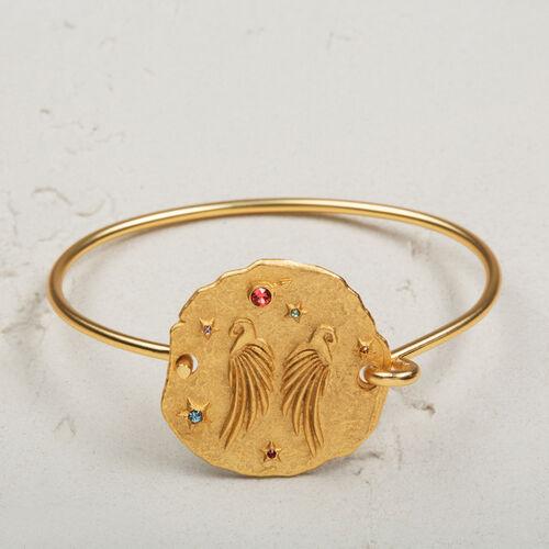 Bracelet avec médaille martelée - Bijoux - MAJE