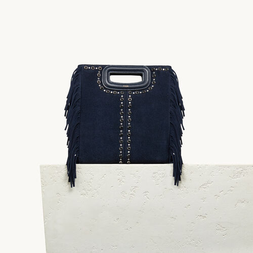 Suede bag with studs - Bags - MAJE