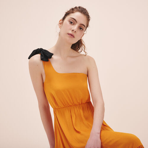 Long asymmetric dress - Dresses - MAJE
