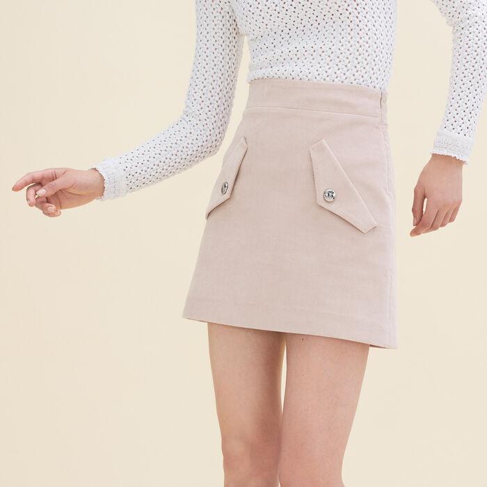 Jupe courte en velours - Jupes & Shorts - MAJE