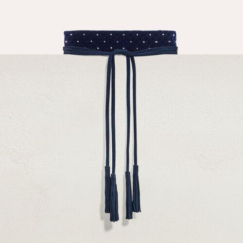 Wide tie belt with studs - Belts - MAJE