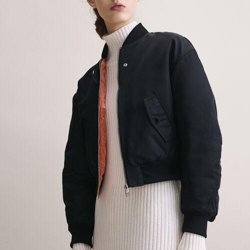 Cropped reversible bomber jacket - Jackets & Bombers - MAJE