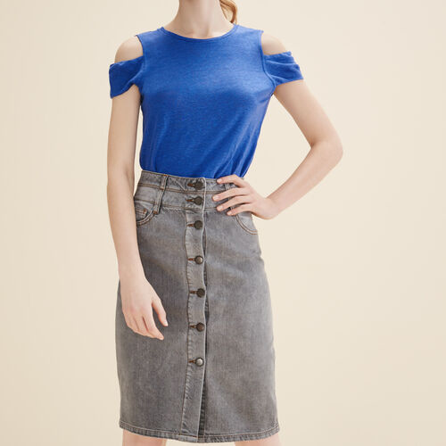 Denim pencil skirt - Skirts & Shorts - MAJE