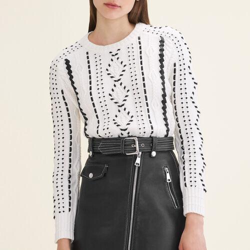 Cable knit jumper - Knitwear - MAJE