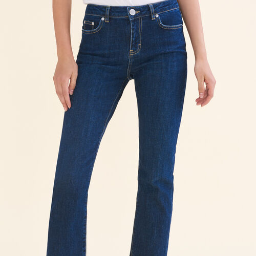7/8-length stretch cotton jeans - Jeans - MAJE