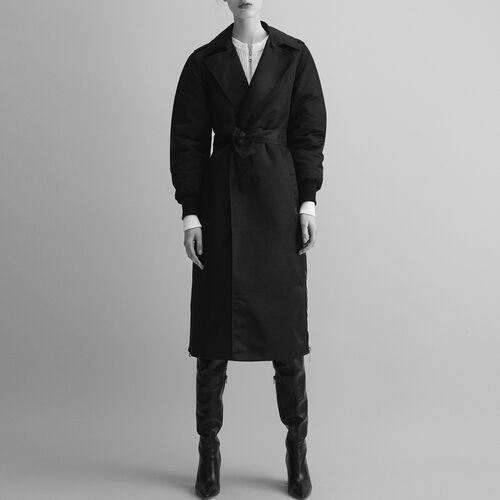 Trench coat with side zips - Coats - MAJE