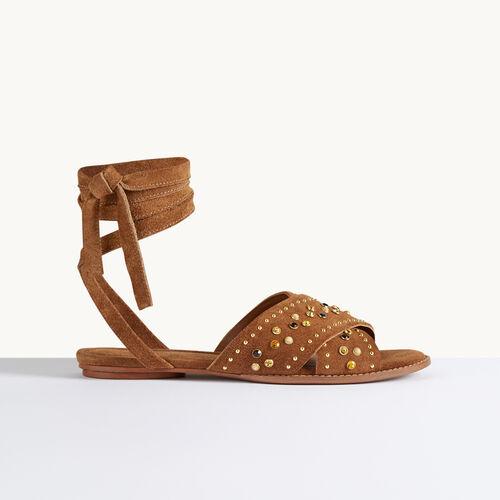 Sandales plates avec studs - Chaussures - MAJE