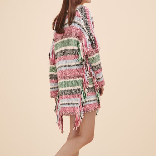 Multi-coloured knit cardigan - Knitwear - MAJE