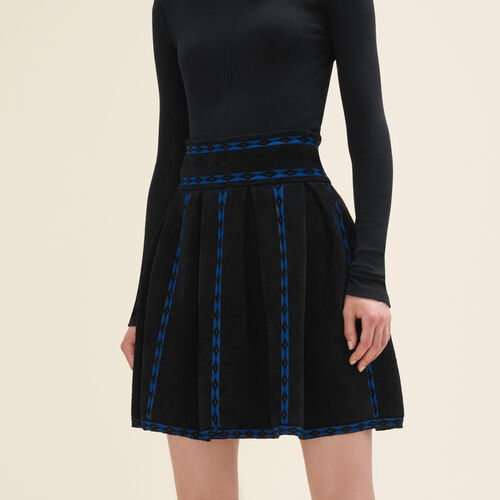 Jacquard knit skirt - Skirts & Shorts - MAJE