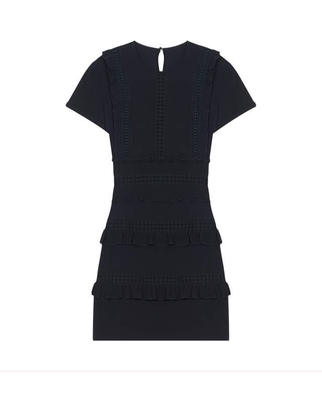 Short dress with frill detailing - Dresses - MAJE