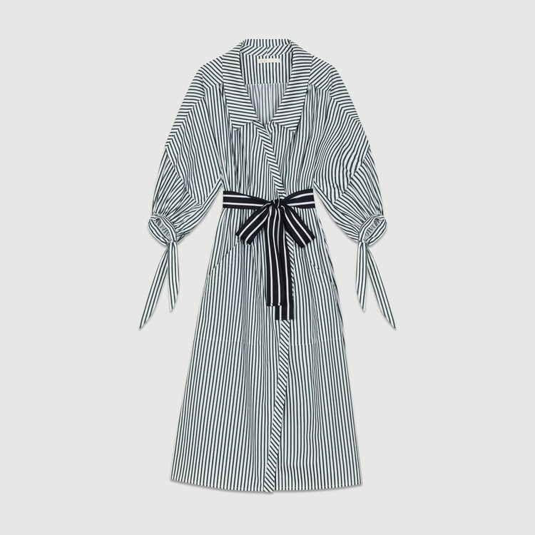 Robe-chemise déstructurée à rayures : Robes couleur Rayure