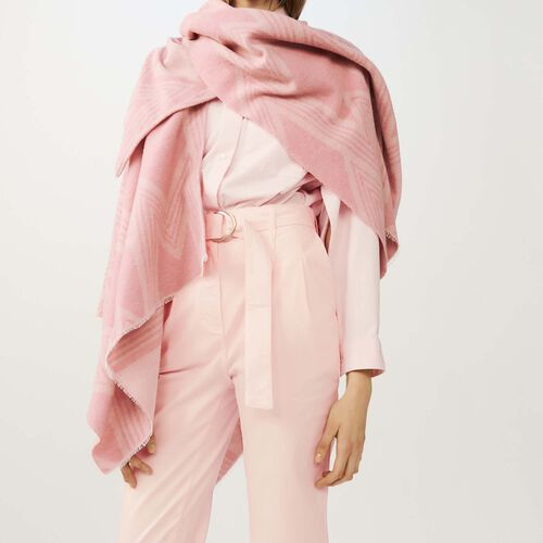 M print poncho : Accessories color Pink